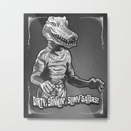 Alligator Person Metal Print