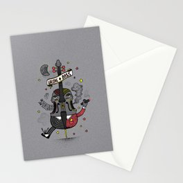"""WALKING BASS"" Stationery Cards"