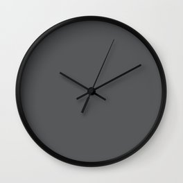 Solid Elephant Gray Grey Wall Clock