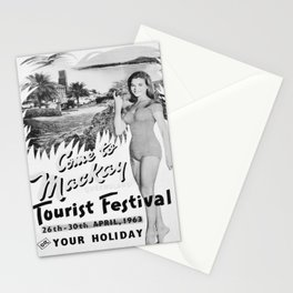 retro monochrome Mackay Queensland Stationery Cards