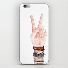 Peace Hand Symbol iPhone Skin