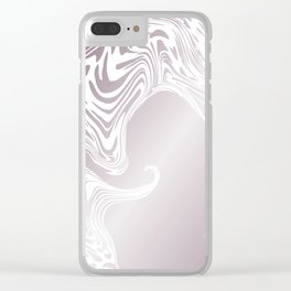 Rose Gold Liquid Marble Effect Design Clear iPhone Case