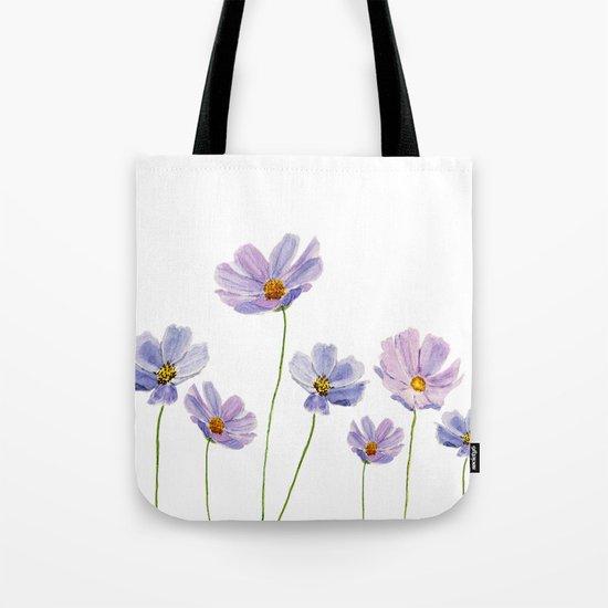 purple cosmos 2 Tote Bag