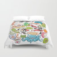 nori Duvet Covers featuring Sushi Bar: Point of Nori-turn by ieIndigoEast