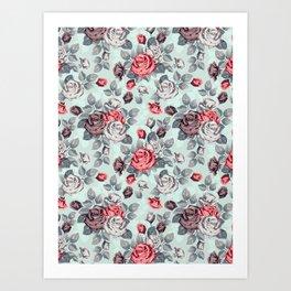 Flowers pattern2 Art Print