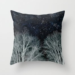 Constellation Forest Throw Pillow