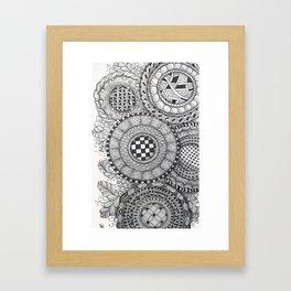 Patterned Circle Collage Framed Art Print