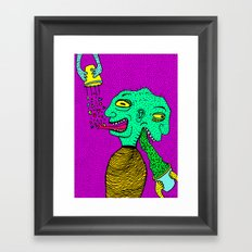 PUKE N' PYRAMIDS. Framed Art Print