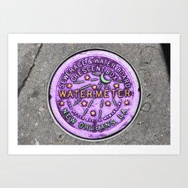 New Orleans Mardi Gras NOLA Water Meter Art Print