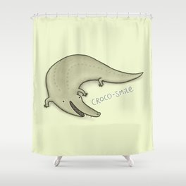 Croco-Smile Shower Curtain
