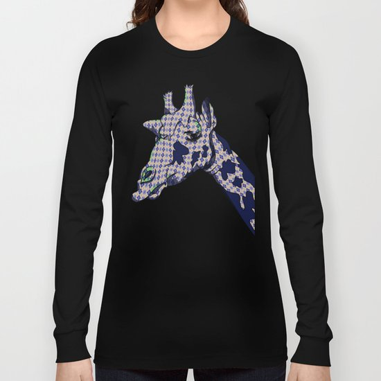 Argyle Giraffe  Long Sleeve T-shirt