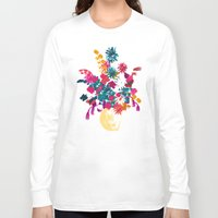 blush Long Sleeve T-shirts featuring Blush by Picomodi