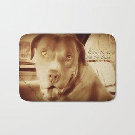 Punish The Deed, Not The Breed  Bath Mat