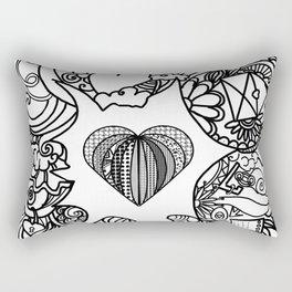 love and doodles Rectangular Pillow