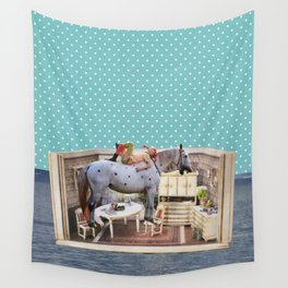 Floating House Wall Tapestry