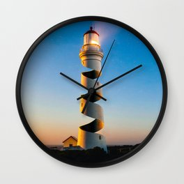 Twisted Lighthouse Wall Clock