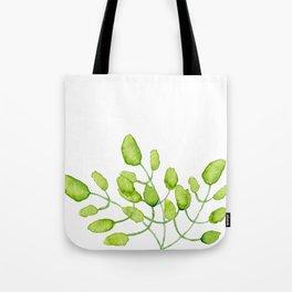 Watercolor green leaves Tote Bag