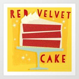 All American Classic Red Velvet Cake Art Print