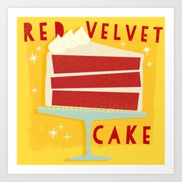 All American Classic Red Velvet Cake Art Print