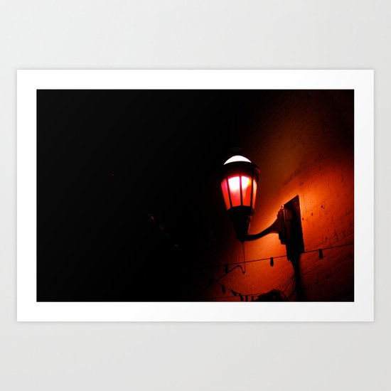 Red Streetlight Art Print