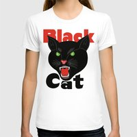 novelty T-shirts featuring Black Cat Fireworks T-shirt cool retro novelty 70's 80's vintage tee  by arul85