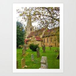 The Tranquil Churchyard Art Print