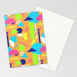 Postmodern Sea ll in Neon 90's Stationery Cards