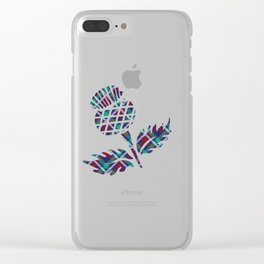Scotland Gifts Scottish Thistle Tartan Plaid Gift Clear iPhone Case