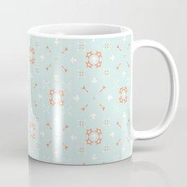 Blue and Orange Festive Winter Star Ornamental Coffee Mug