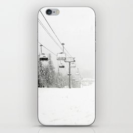 Lifts waiting for action in the snow iPhone Skin