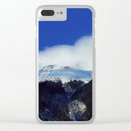 underneath a blue sky Clear iPhone Case