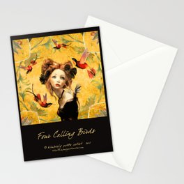 Four calling birds Stationery Cards