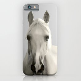 White Horse in Morning Mist iPhone Case
