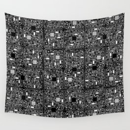 Serious Circuitry Wall Tapestry
