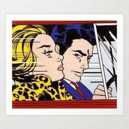 roy lichtenstein In the car Art Print