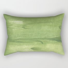 Green leafi stained watercolor pattern Rectangular Pillow