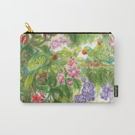 Birds and Orchids Tropical Rainforest II Carry-All Pouch