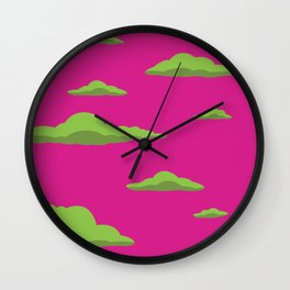 Cloudscape - Purple Wall Clock
