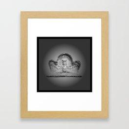 Flying hourglass Framed Art Print