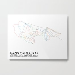 Gazprom (Laura) Mountain Resort, Sochi, Russia - European Edition - Minimalist Trail Art Metal Print