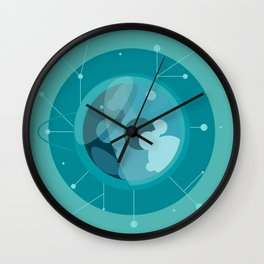 Planet E - Trappist System Wall Clock