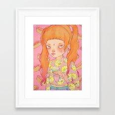 Orange Fluffy Framed Art Print