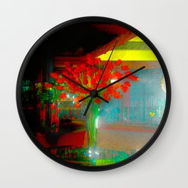 Bouquet Of Roses Abstract Wall Clock