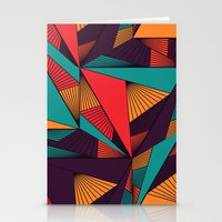 arya Stationery Cards featuring Hexagonal Lines and Triangles by Hinal Arya