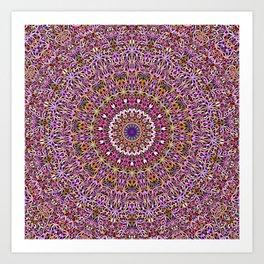 Colorful Spiritual Garden Mandala Art Print