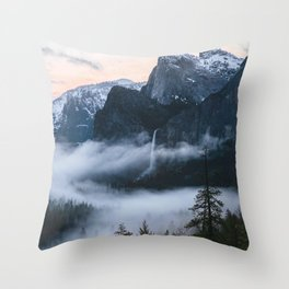 Three Brothers at Sunrise | Yosemite National Park, CA Throw Pillow