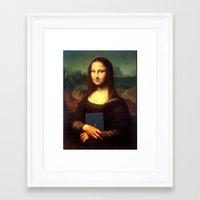 mona lisa Framed Art Prints featuring mona lisa by Roman Belov