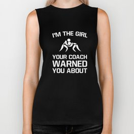 Girl Your Coach Warned You About Girl's Wrestling Biker Tank