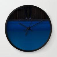 pool Wall Clocks featuring pool. by zenitt