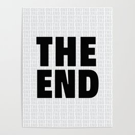 The End Black Poster